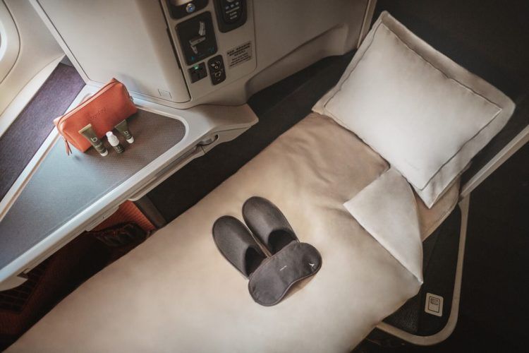 Cathay Pacific New Business Class Bedding Copyright