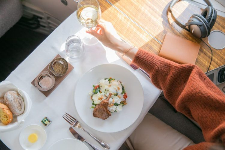 Cathay Pacific New First Class Experience Wellness Meal Copyright