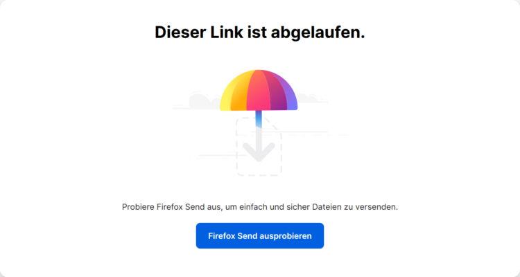 Firefox Send Link Abgelaufen