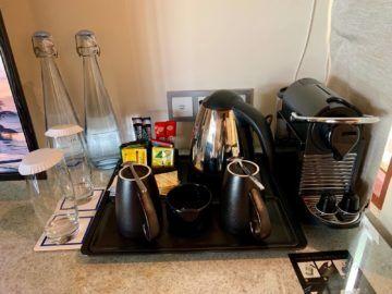 hilton seychelles labriz beach villa kaffeemaschine