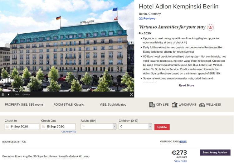 Hotel Adlon Kempinski Berlin Virtuoso