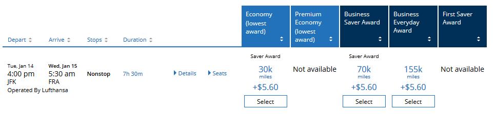 Lufthansa Beispielbuchung Jkf Fra Januar 2020