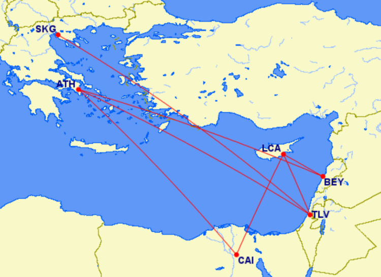 Miles And More Statusrun Routings Aegean