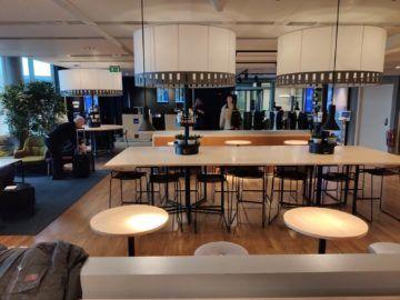 sas business lounge oslo ausblick zentral