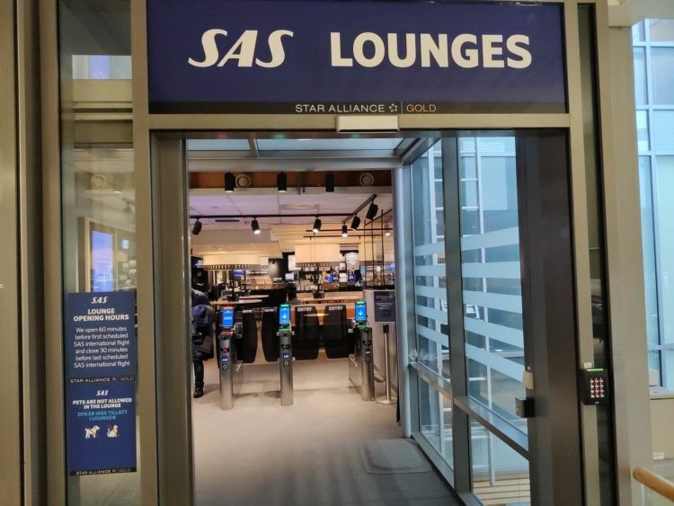 Sas Business Lounge Oslo Eingang