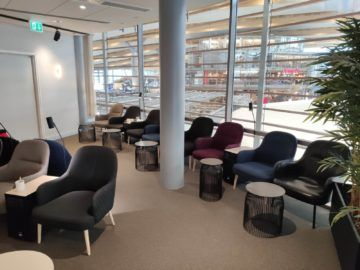 sas business lounge oslo hinterer bereich