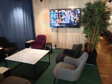 sas business lounge oslo sitzbereich fernseher