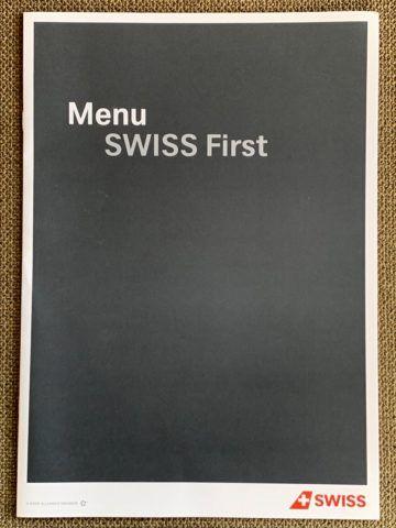 swiss first class a340 300 menu zurich shanghai 2