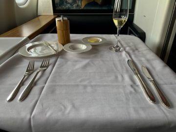 swiss first class a340 300 mittagessen 3