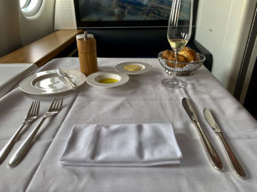 swiss first class a340 300 mittagessen 5