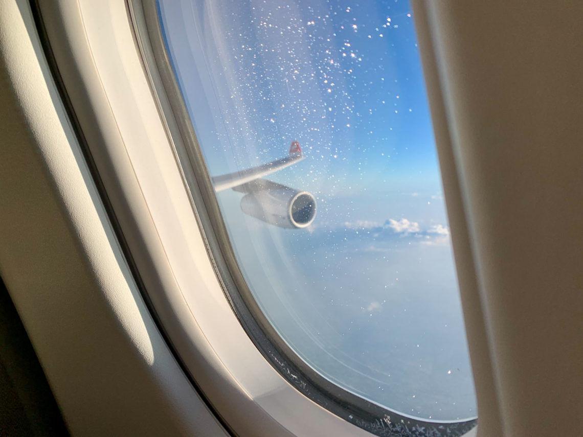 Swiss A340 First Class - Wingview