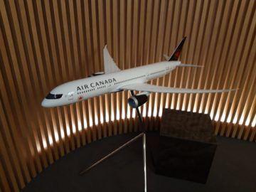 Air Canada Maple Leaf Lounge London Modellflugzeug