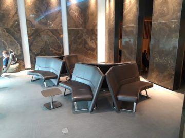 Air Canada Maple Leaf Lounge London Sitzbaenke