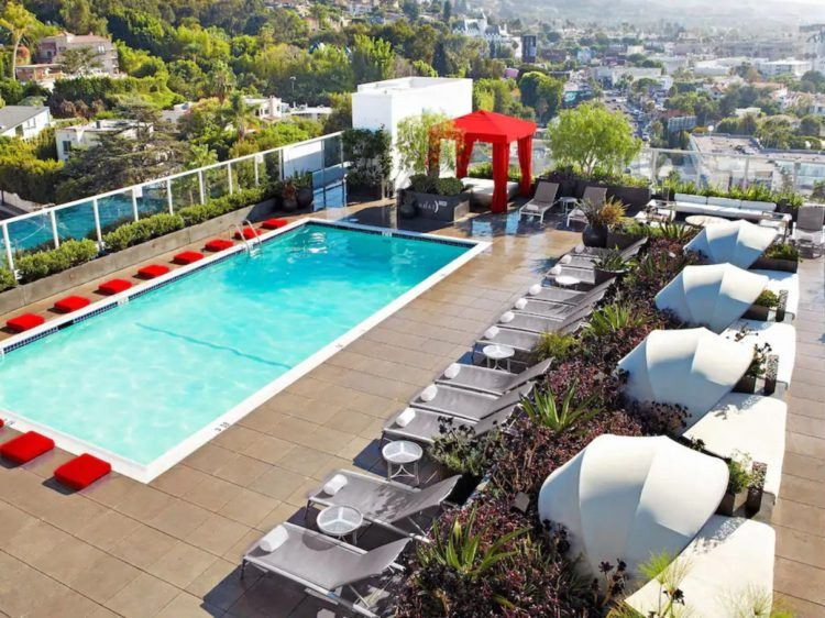 Andaz West Hollywood Sonnendeck Mit Pool