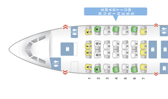 Asiana Business Class A350-900 Seatmap © Seatguru