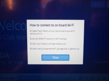 british airways business class a350 1000 anweisung internet connection