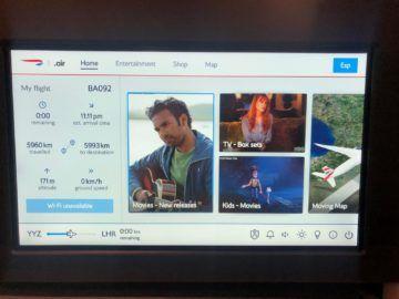 british airways business class a350 1000 entertainment menu