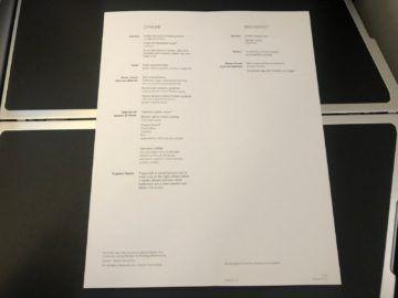 british airways business class a350 1000 essen menu