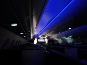 british airways business class a350 1000 kabine dunkel