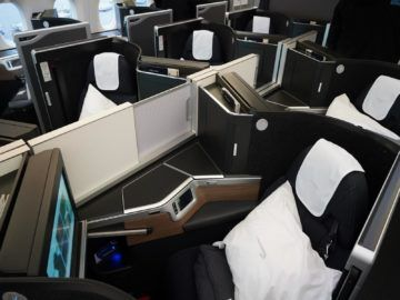 british airways business class a350 1000 mittlere plaetze
