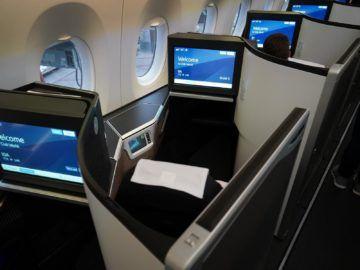 british airways business class a350 1000 sitz von hinten