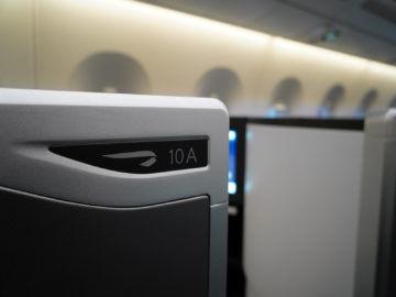 british airways business class a350 1000 sitznummer