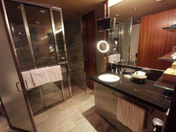 grand hyatt berlin king bett zimmer mit stadtblick badezimmer1