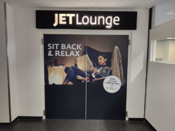 Jet Lounge Wien Eingangstür