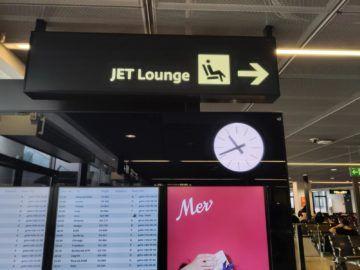 Jet Lounge Wien Hinweg Schild