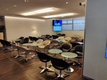 Jet Lounge Wien Sitzbereich Vorne Fernseher