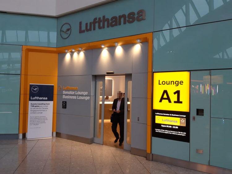 Lufthansa Lounge London Heathrow T2a Eingang