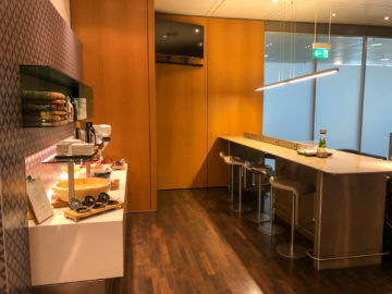 Lufthansa Senator Cafe Muenchen Ecke Fruehstueck