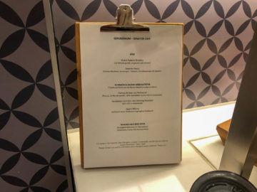 Lufthansa Senator Cafe Muenchen Menue Fruehstueck
