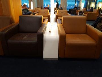 Lufthansa Senator Lounge London Heathrow T2a Loungesessel