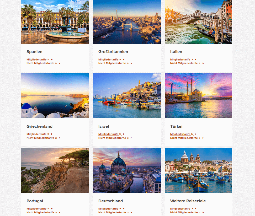 Marriott Europe Luxury Offer Länder