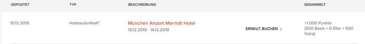 Marriott Punkte Buchung