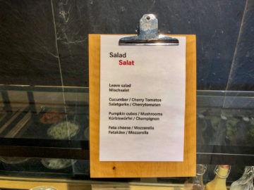 Swiss Alpine Lougne Zurich Auswahl Salat