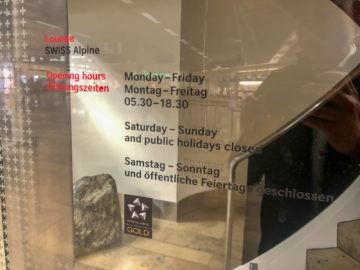 Swiss Alpine Lougne Zurich Oeffnungszeiten