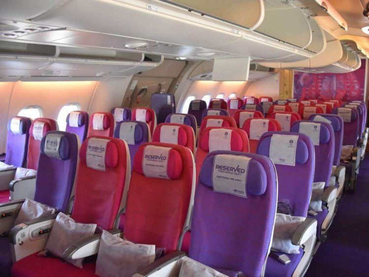 thai airways business class airbus a380 osaka bangkok economy class im upper deck
