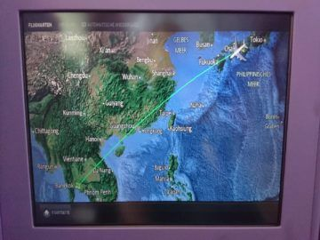 thai airways business class airbus a380 osaka bangkok entertainment fluginformation