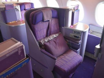 thai airways business class airbus a380 osaka bangkok fensterplatz