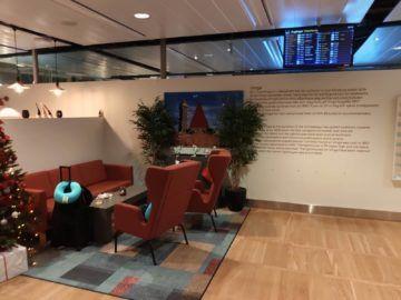 Vinga Lounge Göteborg Eingangsbereich Weihnachtsdeko