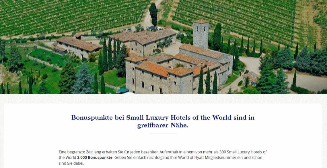 World Of Hyatt Small Luxury Hotels Offer