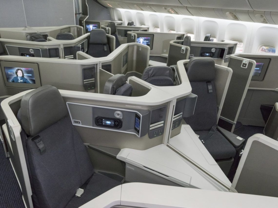 American Airlines Dreamliner B787 Flagship Business Class Kabine Copyright