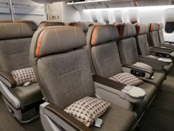 Eva Air Premium Economy Sitz