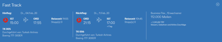 Miles And More Praemienflug Turkish Airlines Business Class Ist Ord