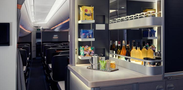 Sas A350 Business Class Snack Bar Copyright