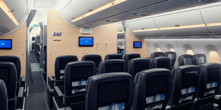 Sas A350 Premium Economy Class Copyright