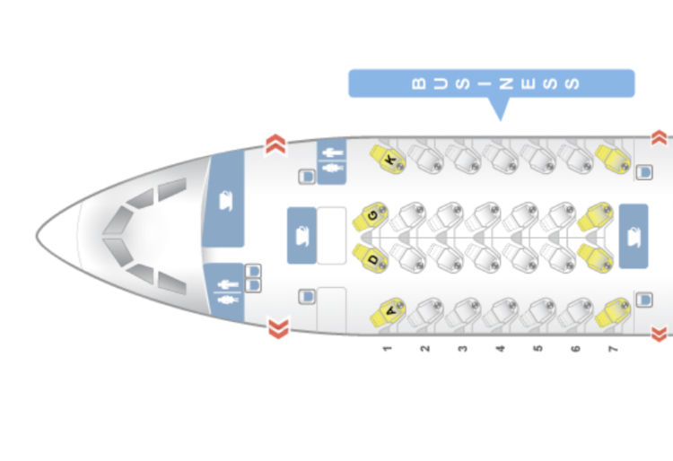 SriLankan Airlines Business Class A330 in der Seatmap
