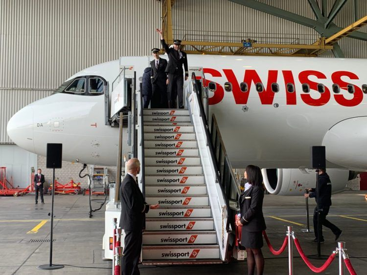 Swiss Airbus A320neo Empfang
